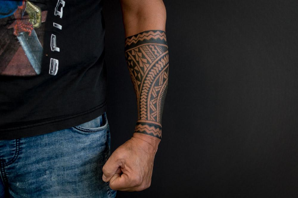 Maori tattoo onderarm